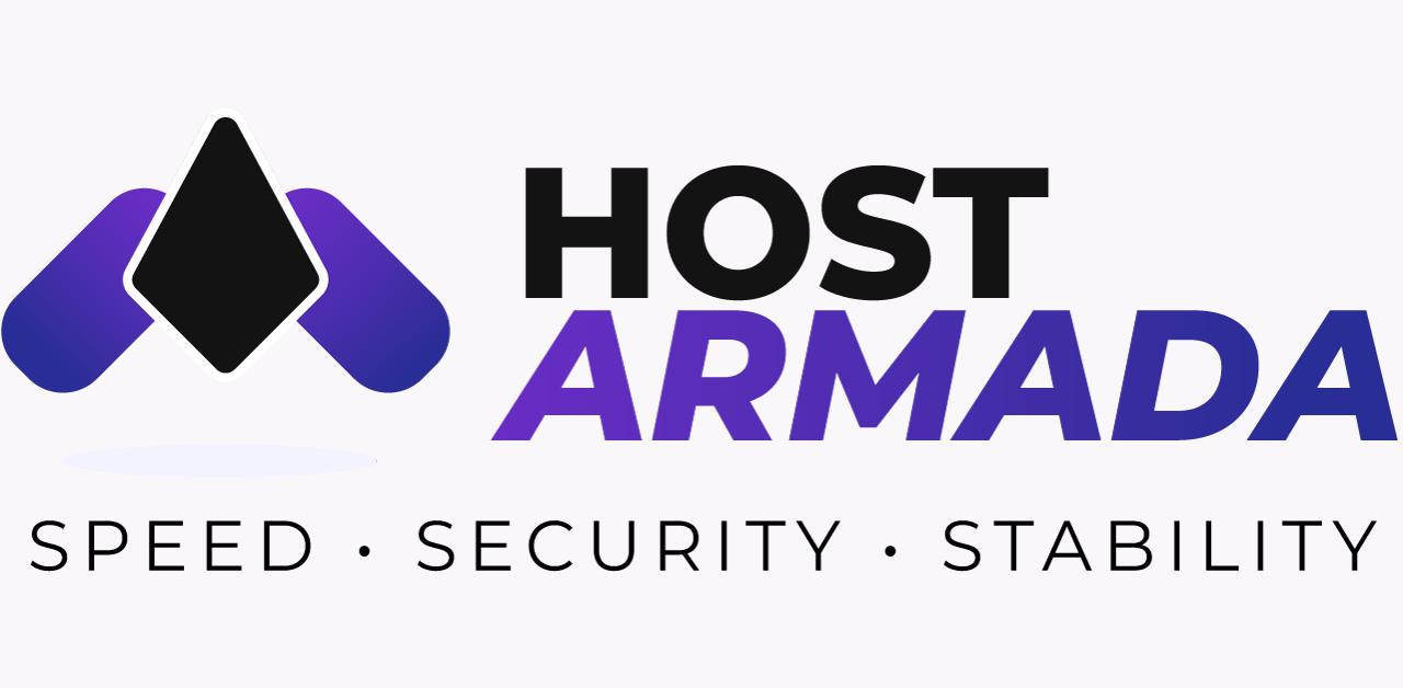 hostarmada logo on lightgrey background