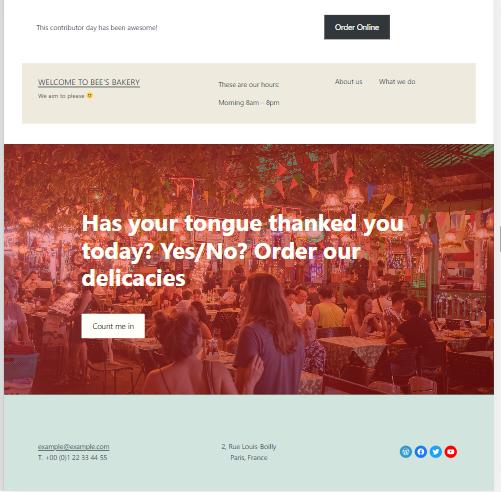 tongue in cheek slogan for a restaurant website