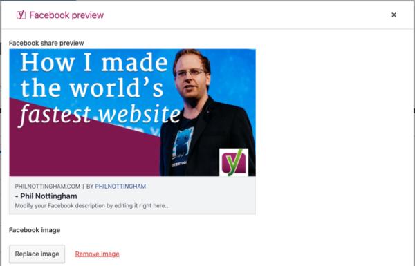 Tambahkan thumbnail video Anda sebagai gambar OpenGraph di tab pratinjau Facebook di Yoast SEO