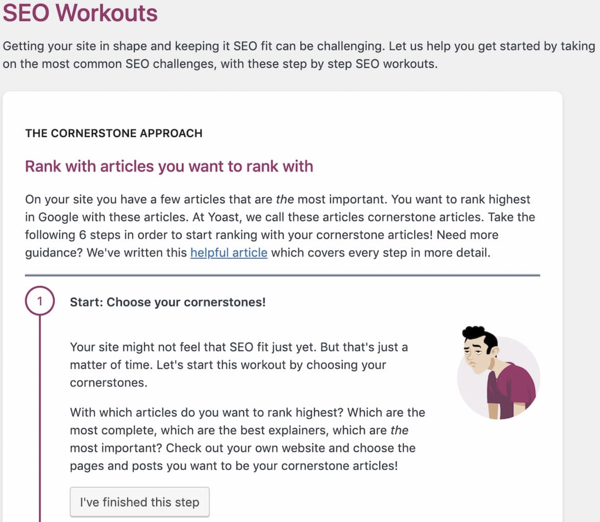 Step one of the SEO workout