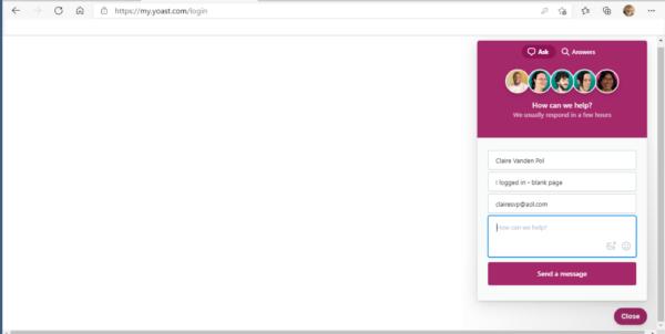myyoast blank screen example