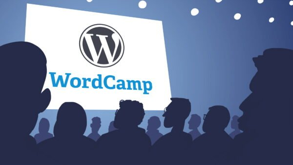 Illustration of people attending WordCamp