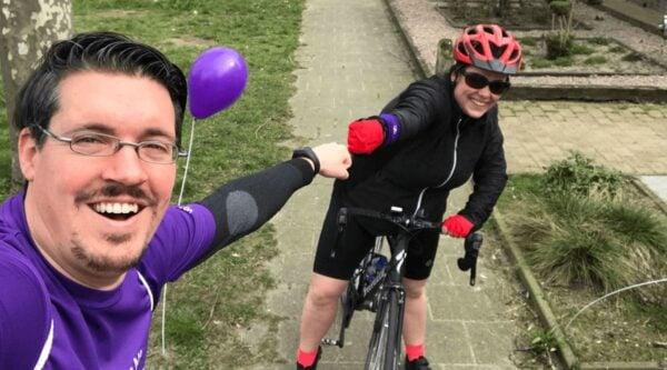 Yoasters riding a bike