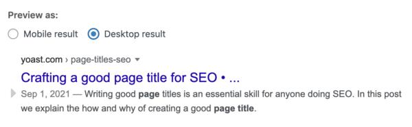 ejemplo de vista previa de Google de escritorio