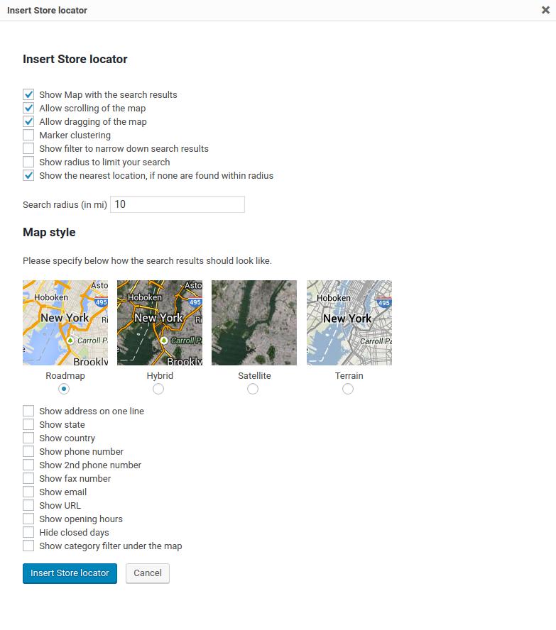 Yoast SEO: Local Store Locator pop-up