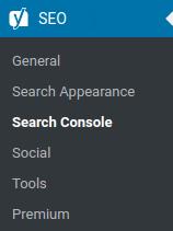 Admin > SEO > Search Console