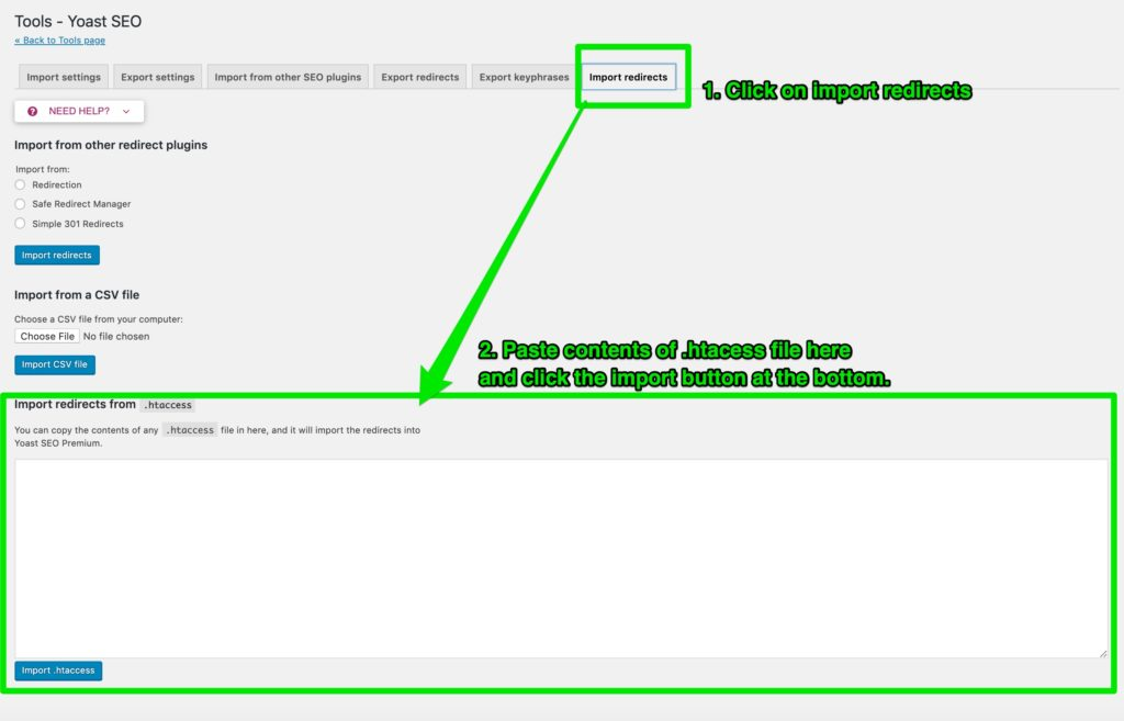 Import Redirects