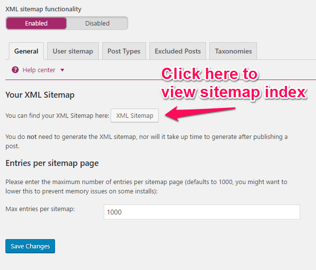 Sitemap: Enable XML Sitemaps In The Yoast SEO Plugin