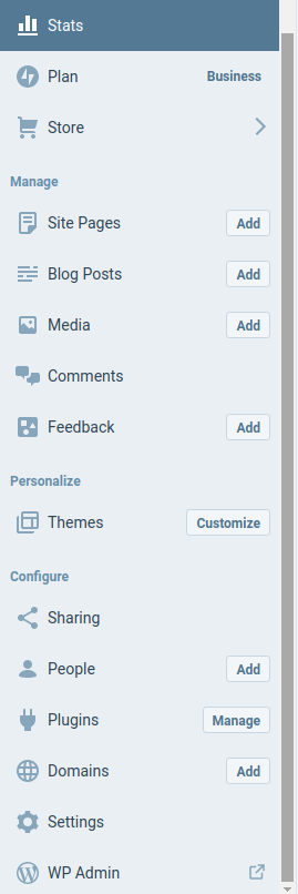 WordPress.com Menu