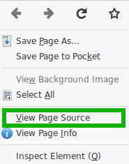 Firefox: View Source