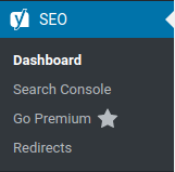 Yoast SEO > Dashboard (Advanced disabled)