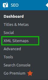 Yoast SEO > XML Sitemaps