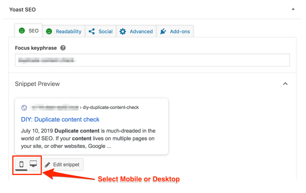 How to Preview the Desktop and Mobile Snippets