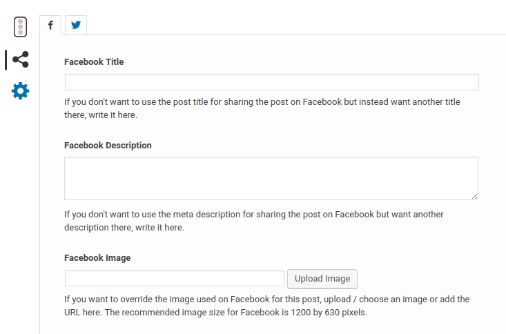 Yoast SEO Metabox : Social Tab - Facebook
