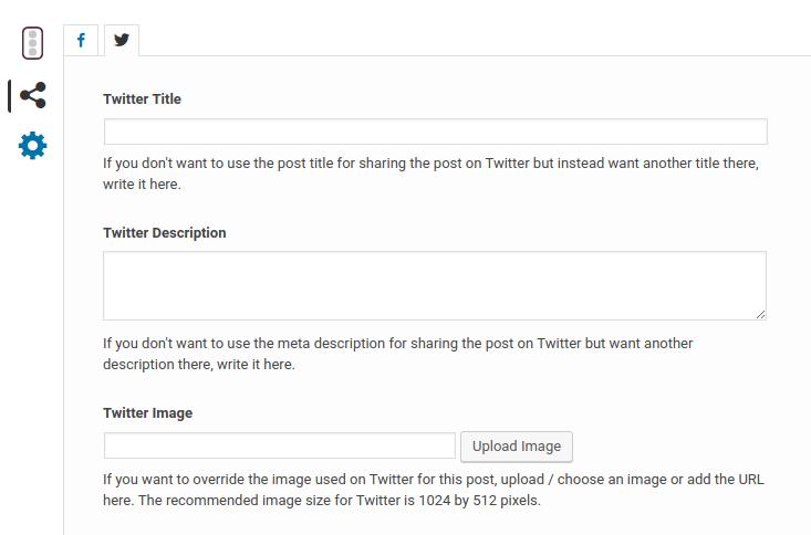 Yoast SEO Metabox : Social Tab - Twitter