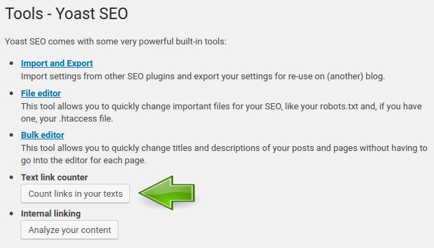 SEO Tools Text link counter