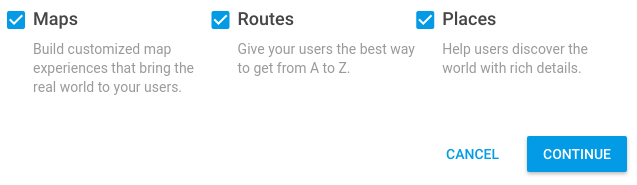 Google Maps Enable APIs