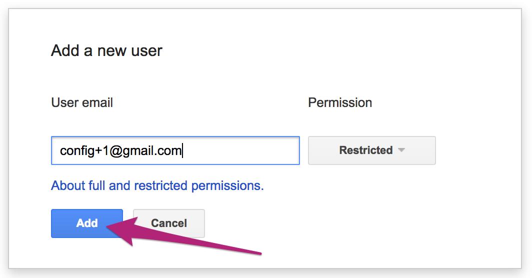 GSC - Adding a user button