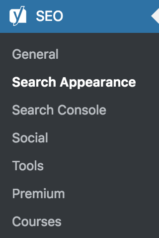 Admin SEO Search Appearance