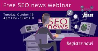Yoast SEO news webinar – October 19, 2021